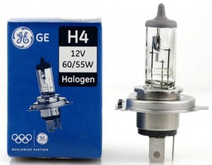 ŻARÓWKA GE H4 P43T 12V GENERAL ELECTRIC HALOGEN